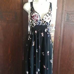 Pretty black with flowers dress